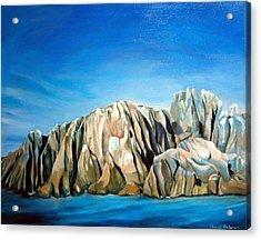 Seychelles Acrylic Print by Muriel Dolemieux