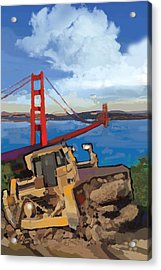 Sf And D9 Acrylic Print by Brad Burns
