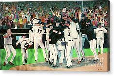 Sf Giants 2010 World Series Championship Celebration Acrylic Print by Pete  TSouvas