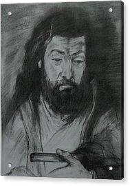 Sfantul Simon Acrylic Print by Covaliov Victor