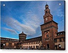Sforzesco Castle Milan  Acrylic Print by Carol Japp