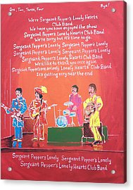 Sgt. Pepper's Lonely Hearts Club Band Reprise Acrylic Print