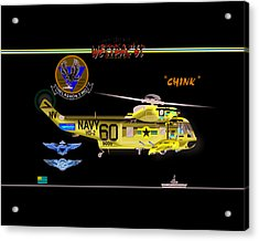 Sh-3a Seaking From Hs-2 Acrylic Print by Mike Ray
