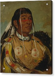 Sha-co-pay, The Six, Chief Of The Plains Ojibwa Acrylic Print by George Catlin