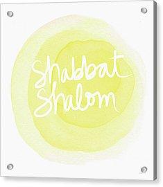 Shabbat Shalom Sun Drop - Art By Linda Woods Acrylic Print by Linda Woods