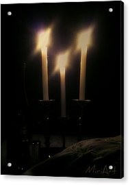 Shabbos Candles Acrylic Print