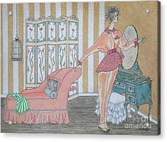 Shabby Chic -- Art Deco Interior W/ Fashion Figure Acrylic Print
