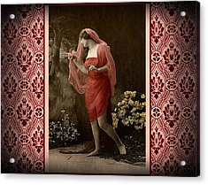 Shabby Chic Vintage Diva Acrylic Print
