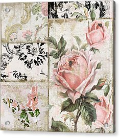 Shabby Pink Tea Roses Acrylic Print by Mindy Sommers