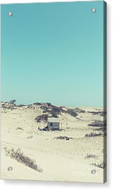 Acrylic Print featuring the photograph Shack In The Sand Dunes by Edward Fielding