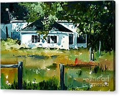 Acrylic Print featuring the painting Shaded Porch by Charlie Spear