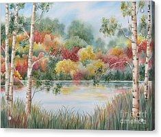 Shades Of Autumn Acrylic Print by Deborah Ronglien