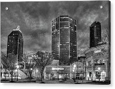 Shades Of Business Buckhead Financial District Atlanta Art Acrylic Print by Reid Callaway