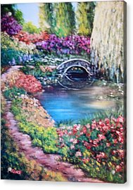 Shades Of Giverny Acrylic Print