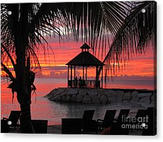 Shades Of Paradise 2 Acrylic Print by Addie Hocynec