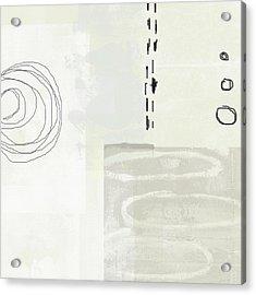 Shades Of White 4- Art By Linda Woods Acrylic Print