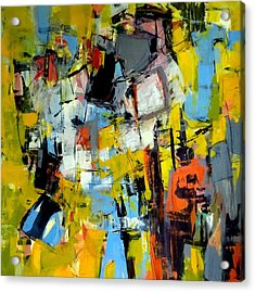 Acrylic Print featuring the painting Shades Of Yellow by Katie Black