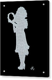 Shadow Against The Wall Acrylic Print by Michelle Kinzler