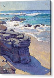Acrylic Print featuring the painting Shadow At Crystal Cove by Konnie Kim