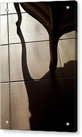Shadow Of An Armchair On A Tiled Floor Acrylic Print by Sami Sarkis