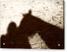 Shadow Of Horse And Girl Acrylic Print by Angela Rath
