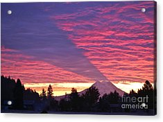 Shadow Of Mount Rainier Acrylic Print by Sean Griffin