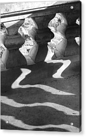 Shadow Of Railing Acrylic Print