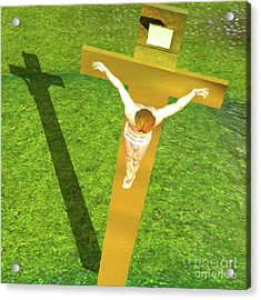 Shadow Of The Christ Acrylic Print