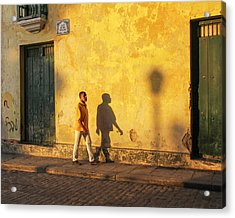 Shadow Walking Acrylic Print
