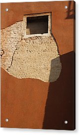 Shadow With Square Window In Venice Acrylic Print by Michael Henderson