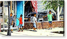 Shadows And Relections Acrylic Print by Thomas Akers