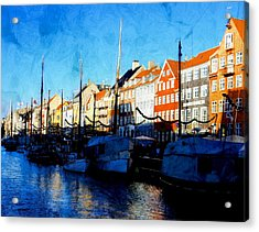 Shadows At Nyhavn Acrylic Print by Dorothy Berry-Lound