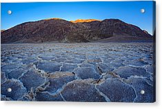 Shadows Fall Over Badwater Acrylic Print