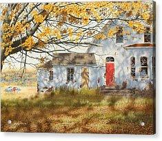 Shadows In Autumn Acrylic Print