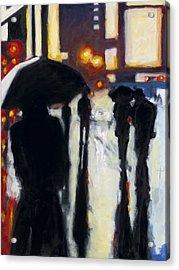 Shadows In The Rain Acrylic Print