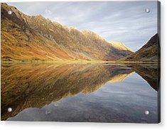Shadows, Light And Reflections On Loch Achtrocitan Acrylic Print