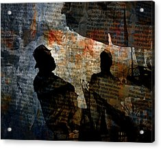 Shadows Of A Conversation Acrylic Print by Randall Nyhof