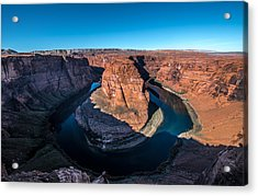 Shadows Of Horseshoe Bend Page, Arizona Acrylic Print