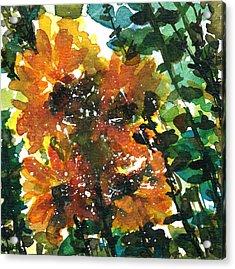 Shadows Of Sunflowers Acrylic Print by Garima Srivastava