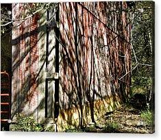Shadows On The Barn Acrylic Print