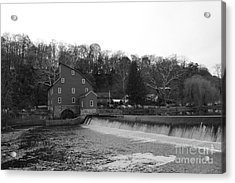 Shadows On The Mill In Clinton Acrylic Print