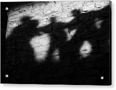 Shadows On The Wall Of Edinburgh Castle  Acrylic Print by Christine Till