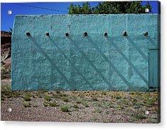 Shadows On Turquoise Wall Acrylic Print