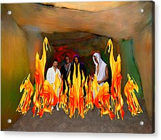 Shadrach Meshach And Abednego  Acrylic Print by Bruce Nutting