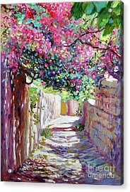 Shady Lane Greece Acrylic Print