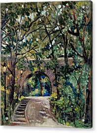 Shady Path Near The Cloisters Fort Tryon Park Nyc Acrylic Print