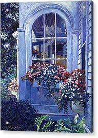 Shady Window Boxes Acrylic Print by David Lloyd Glover