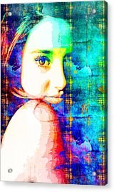 Acrylic Print featuring the mixed media Shailene Woodley by Svelby Art
