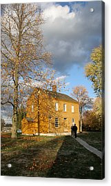 Shaker Building In The Fall Acrylic Print by Angie Bechanan