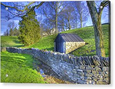 Shaker Stone Wall 6 Acrylic Print